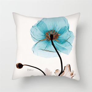 Wispy Flower Printed Cushion Covers