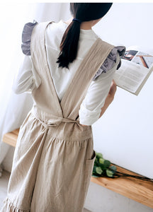 Soft Washed Cotton Linen Apron