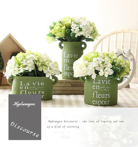 Farmhouse Chic Ceramic Planters