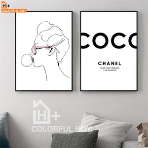 Fashion Coco Girl Posters