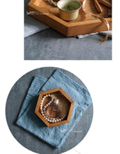 Hexagon Wooden Serving Trays