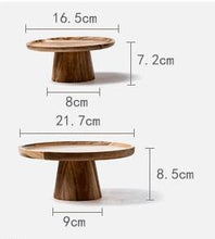 Natural Wood Cake Stand