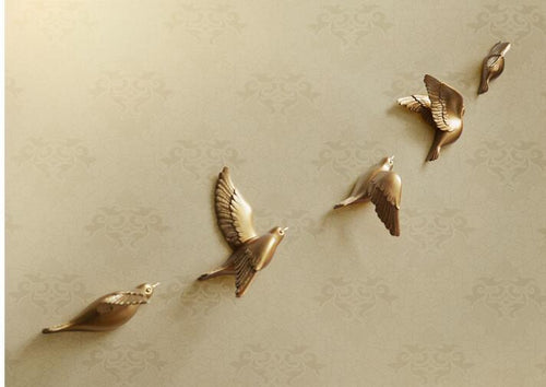 Golden Flying Birds