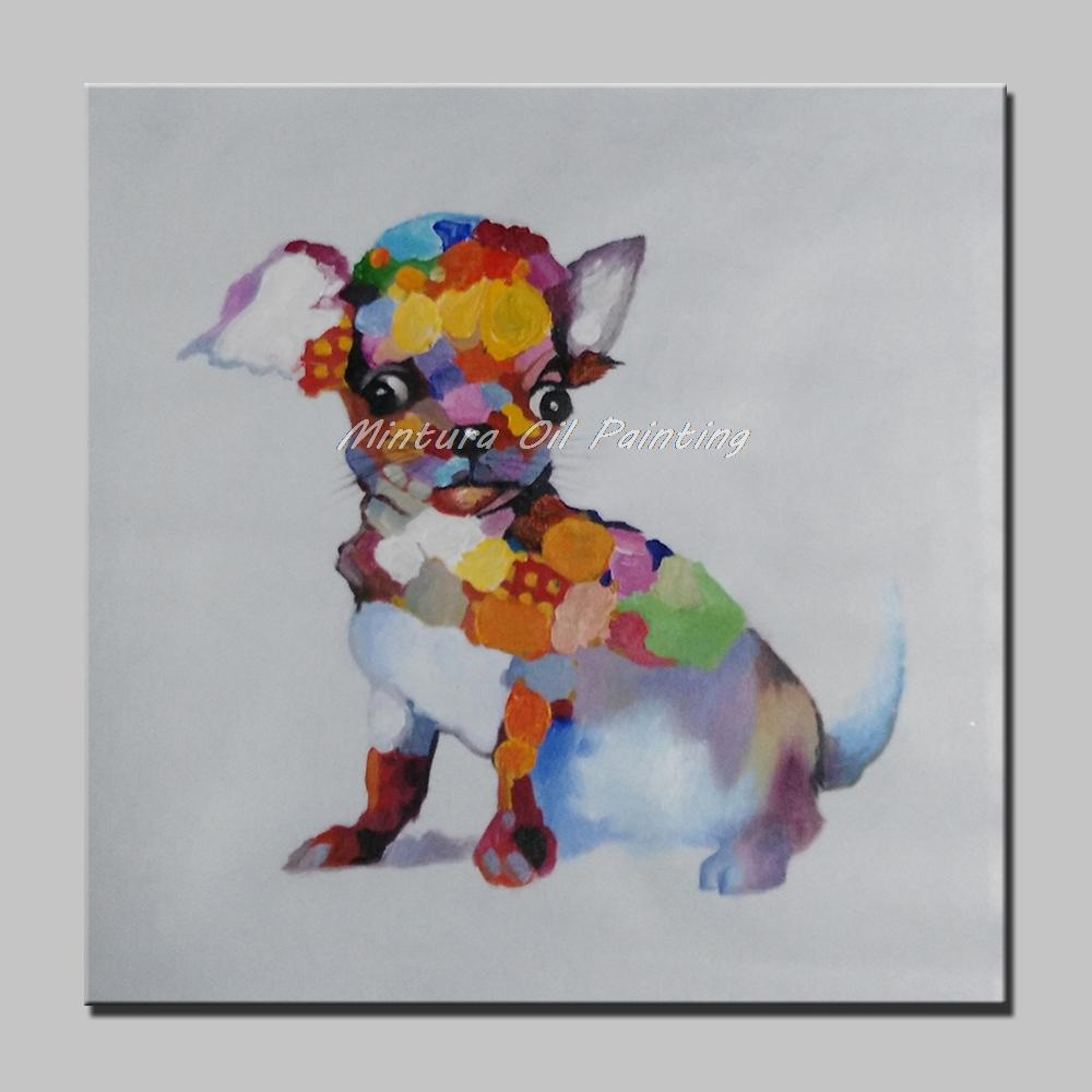 Sherlock Holmes Dog Hand Painted Modern Abstract