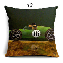 Whimsical Dogs Driving Vintage Cars Cushion/Pillow Cover