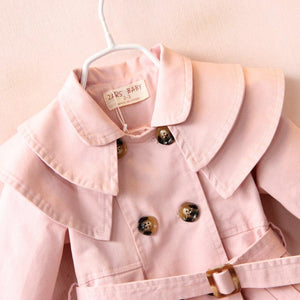 Ruffled Collar Double-Breasted Jacket