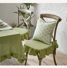 French Chic Ruffled Flax Tablecloth