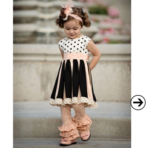 Polka Dots and Ruffles Two Piece Set