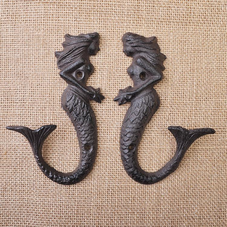 Mermaid Cast Iron Wall Hook