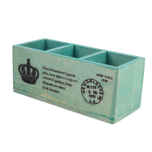 Retro Wooden Box For Succulents