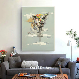 Flying Pig Canvas Print