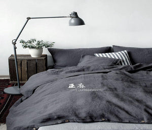 Washed French Flax Linen Duvet Cover