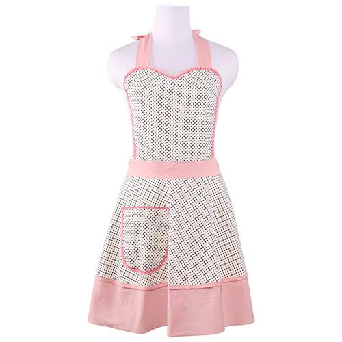 Vintage Kitchen Apron Polka Dot