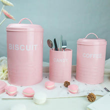 Retro Pink Kitchen Containets