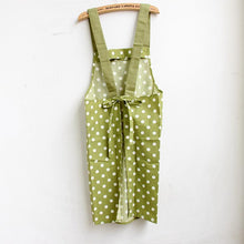 Green Striped or Polka Dot Design Kitchen Apron