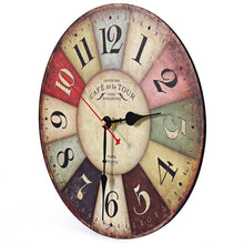 French Country Round Vintage Wall Clock
