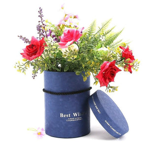 Paperboard Flower Box with Lid