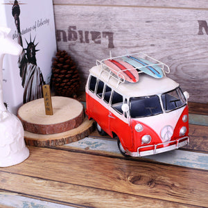 Surfing with a Vintage VW Bus