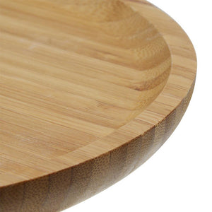 Wooden Double Layer Cake Plate