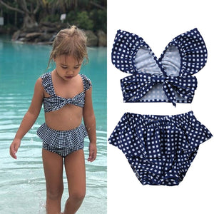 Plaid and Ruffles Tankini