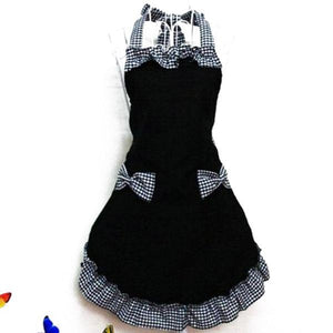 Sweet Cotton Halter Neck Apron with Pocket
