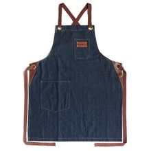 Navy Denim Apron w/adjustable strap