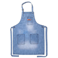 Vintage Denim Apron with 3 Pockets