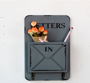 Wooden Vintage Letter Box Holder