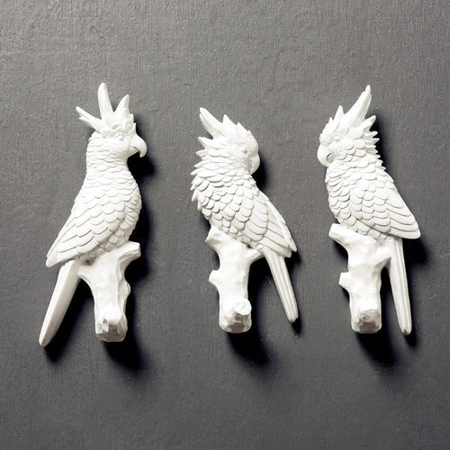 Resin Pretty Polly Parrot Wall Hooks
