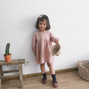 Toddler Girl Linen Dress