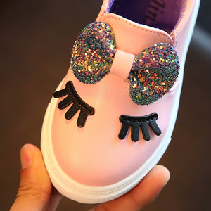 Sparkly Bow Eye Lash Sneakers