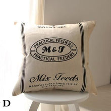 Vintage Grain and Feed Cushion Cover