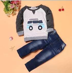 'Trendy Boy' Jeans and Sweater Set