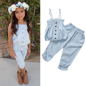 Toddler Girls Jeans Top and Bottoms
