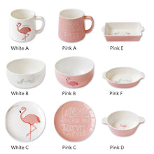 Pink Flamingo Ceramic Plates and Cups