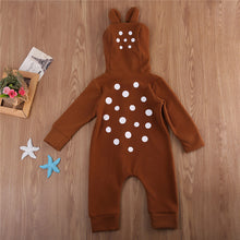 Little Deer Baby Brown Romper