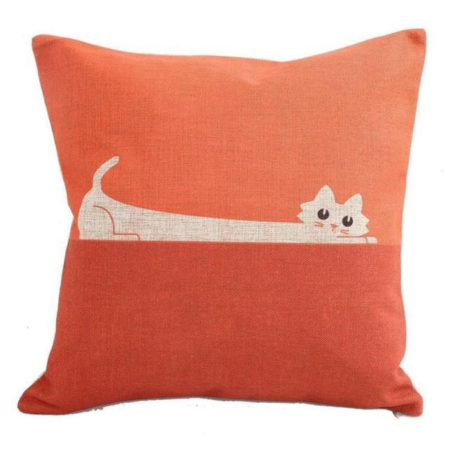 Stretched Out Cat Cushion