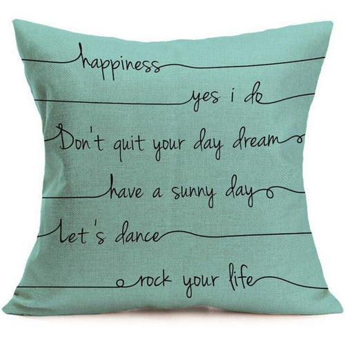 Inspirational Words Cushion/Pillow Cover