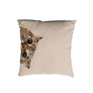 Adorable 'Peek a Boo Cat' Cushion/Pillow Cover
