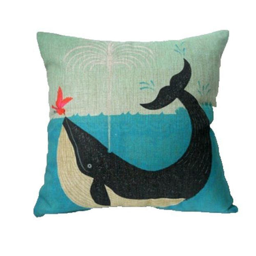 Whale in Water Cushion/Pillow Cover