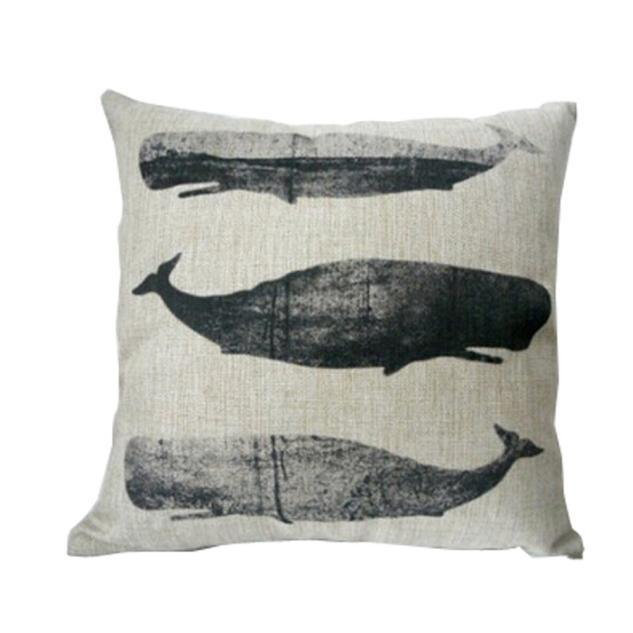 Vintage Whale Cushion/Pillow Cover