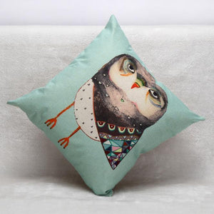 Funky Owl Cushion/Pillow Cover