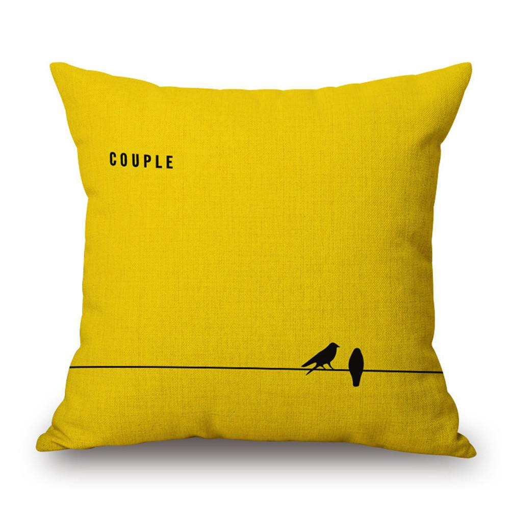 Modern Yellow Cushion/Pillow Cover