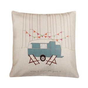 Happy Camper Pillow/Cushion Cover