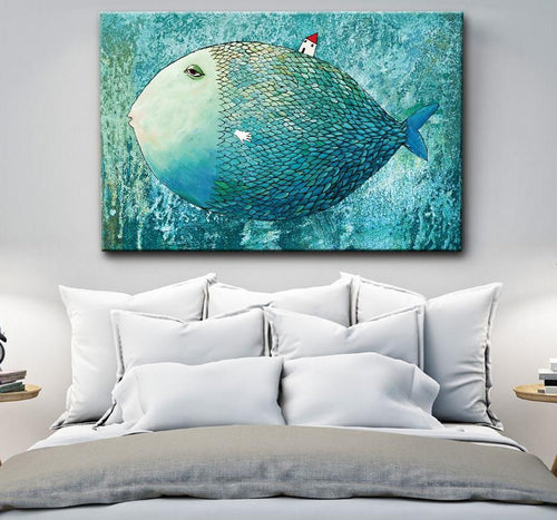 Giant Fish Poster Canvas