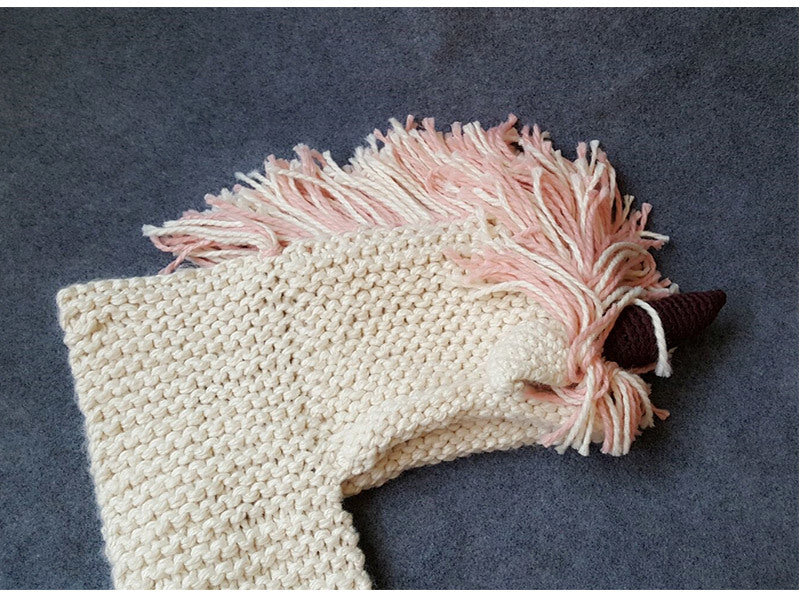 Knitted Unicorn Hat And Scarf Set – Fig Avenue ff1a1d31b95