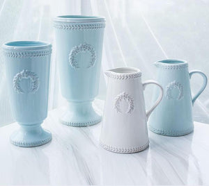 Weathered Sky Blue Vases