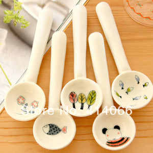 Small Ceramic Spoon Set