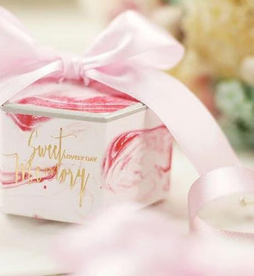 Pink Wedding Candy Boxes