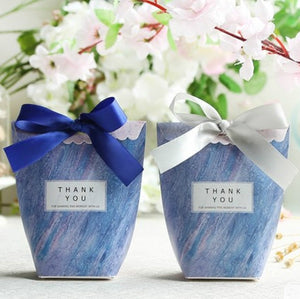 'Thank You' Favors Blue Candy Box
